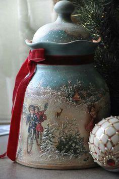 Snow Globes, Decoupage, Glass, Home Decor, Christmas Decor, Decoration Home, Drinkware, Room Decor, Corning Glass
