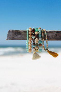 Tribal Boho plage Tassel Chic Bracelet par HappyGoLuckyJewels