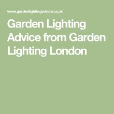 Garden Lighting Advice from Garden Lighting London