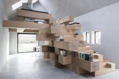 Transformation d'une petite grange en bureaux en Flandre par le studio…
