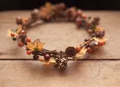The Harvest Crown - Adult Fall Floral Crown, Autumn Floral Crown, Flower Crown, Harvest Festival, Woodland. Rustic, Fall, Bridal Headpiece,