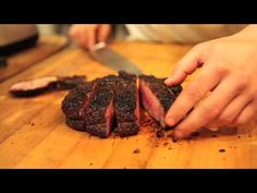Mario Batali Presents: How to Grill a Perfect Steak Check out the Porcini rub video as well. It is the one I use for my steaks (MOZZA by Nancy Silverton has the recipe). The Chew Recipes, Meat Recipes, Healthy Recipes, Cooking Tips, Cooking Recipes, B Food, Perfect Steak, Whats For Lunch