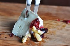 Cranberry Walnut Brie low-carb appetizer Recipe from CarbSmart Low-Carb & Gluten-Free Holiday & Entertaining Cookbook