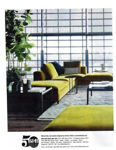 Modern Ranch, Sofa Styling, Outdoor Furniture Sets, Outdoor Decor, Elle Decor, Living Spaces, Living Rooms, Sofas, Couch