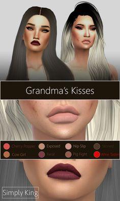 Grandma's Kisses lipstick at Simply King via Sims 4 Updates