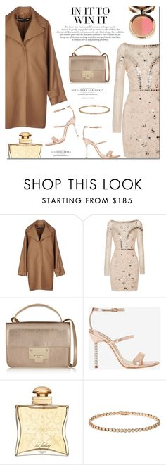"""""""Lux Mood"""" by stellaasteria ❤ liked on Polyvore featuring Rochas, Temperley London, Jimmy Choo, Sophia Webster, Hermès, Cartier and Ciaté"""