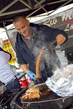 London's Tastiest Street-Food Vendors #refinery29 http://www.refinery29.com/london-street-food-vendors#slide12 The Rib Man Best get there early if you want to try The Rib Man's infamous baby-back rib racks and rolls — once they're gone, they're gone! It's also worth noting, the homemade hot sauces live up to their names. You've been warned! Where: The Rib Man, Brick Lane Market, 91-96 Brick Lane, London, E1 6HR. When: Sundays
