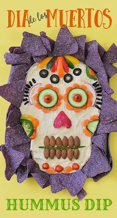 This healthy appetizer idea of Dia de los Muertos Hummus Dip is dressed to impress your guests for your next Halloween party! This healthy appetizer idea of Dia de los Muertos Hummus Dip is dressed to impress your guests for your next Halloween party! Halloween Snacks, Halloween Tags, Entree Halloween, Hallowen Food, Creepy Halloween Food, Theme Halloween, Healthy Halloween, Halloween Cupcakes, Holidays Halloween