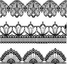 pen illustration lace