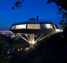 Chemosphere House by John Lautner, featured in Charlies Angels