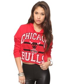 Forever 21. Chicago Bulls OutfitCropped HoodieRed ... 13ddf23902