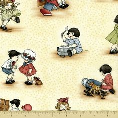 This fabric is a wondrous assortment of childhood themed fabric patterns and prints ,designed to imitate classic 30's era style illustrations and designs elements. This fabric batch of nostalgia inducing vintage textiles is sure to inspire your urge to create !! • Cotton 100% • Width 44 inches • Cream background • If you buy more than one item it will be sent in one uncut continuous piece unless otherwise specified. * Measures 18 x 42 inches Price by HALF YARD