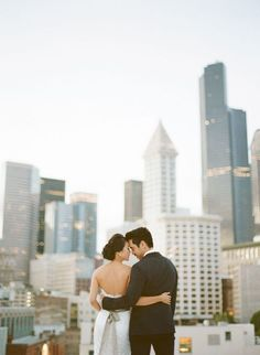 When you have a rooftop wedding, this is the kind of photo that comes with it. Photo: Ben J Haisch