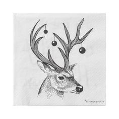 Happy Holidays with Deer - Pack of 20