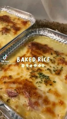 Fun Baking Recipes, Cooking Recipes, Baked Rice, Food Garnishes, Aesthetic Food, Food Menu, Food Cravings, Easy Cooking, Food Dishes