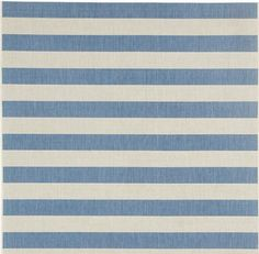 Capel Finesse Stripe Rug, Capri BLue