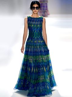 2013 New Printed Peacock Dress #ECS011990