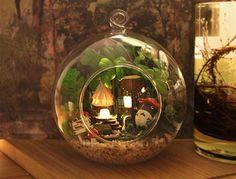 DIY LED LIGHT crystalball mini-series Dollhouse fairy forest elf tribe villa kit