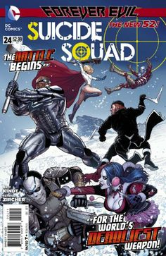 Suicide Squad No.24 (Forever Evil) Belle Reve has been turned to rubble and the inmates are on the loose! Alone, Amanda Waller must fight her way out and form a new #SuicideSquad! Or is a new team already in place?http://www.amazon.com/dp/B00FL4LPYU/ref=cm_sw_r_pi_dp_gSf4sb0RJ0WWT8FT