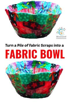 Start Out Your Very Own Sewing Company Fabric Bowls Art And Craft Projects For Kids Diy Gift Made With Upcycled Fabric Scraps Recycled Art Projects, Craft Projects For Kids, Upcycled Crafts, Arts And Crafts Projects, Easy Crafts, Recycled Crafts For Kids, Project For Kids, Creative Crafts, Teen Art Projects