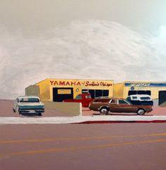 """Yamaha of San Luis Obispo 30""""x30"""" Oil on Canvas $3600 2015"""