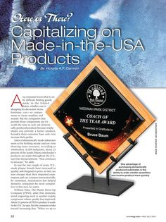 Great feature in the latest A&E magazine! This article not only features the importance of being American made and using local vendors, but also highlights our renowned quality customer service that this allows our company to provide! #madeinusa #supportlocal