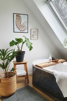 Bring the outside in and learn how to achieve a spring/summer bathroom with our handy guide. Here we highlight great bathroom plants, tips on styling natural woods and reveal some of our favourite accessories to brighten your bathroom this spring. Bathroom Plants, Wood Bathroom, Barn Bedrooms, Interior Inspiration, Jonathan Adler, House Doctor, Decoration, House Design, Interior Design