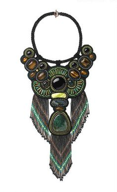 Earth Treasures BIB NECKLACE, National Jewelry Contest. $650,00, via Etsy.