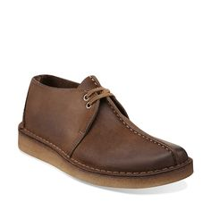 Desert Trek-Men in Dark Brown Leather - Mens Shoes from Clarks