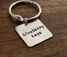 Shawn and Gus Inspired Keychain, Psych Key Chain, Blueberry Keys, Stainless Steel Hand Stamped, For Psych Fan, Psych TV Show