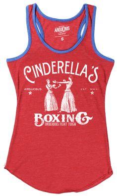 CINDERELLAS BOXING - ECO RINGER RED   ARQUEBUS CLOTHING