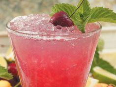 Pomojito 1 oz. POM Cherry 100% juice  1 1/2 oz. light rum  1/2 oz. fresh lime juice  3/4 oz. simple syrup Soda  4 mint leaves