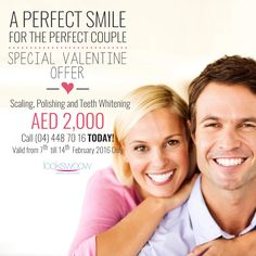 Get yourself & your loved one a #TeethWhitening session for ONLY AED 2,000! Call us at +97144487016.