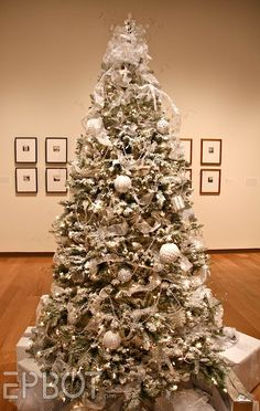 there is nothing more elegant than a shimmery silvery white Christmas tree