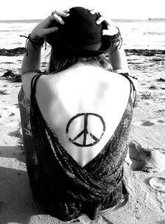 Fashion is freedom... would love this as a tattoo on my back. This is perfectly placed.