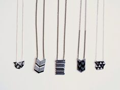 Geometric shrinky dinks jewelry by Super Duper Things
