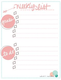 Free printable to do list from Trend Addictions