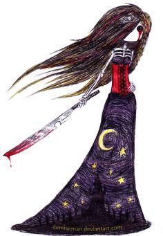 The Midnight Massacre by DemiseMAN.deviantart.com on @deviantART Emo Pictures, Creepy Pictures, Pictures To Draw, Emo Pics, Creepy Drawings, Dark Drawings, Cool Drawings, Fallen Angel Art, Arte Emo
