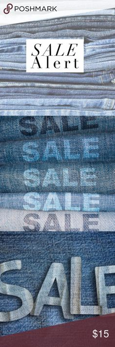 HUGE JEAN SALE! ALL JEANS SLASHED TO THEIR LOWEST ZARA, BKE, MISS ME, LEVEL 99, SEVEN7, LEVI'S. TRUE RELIGION, MEK, VIGOSS, LUCKY BRAND, BIG STAR, GRASS LOS ANGELES, COH, ALLEN B SCHWARTZ, INDIE, KARMA BLUE, YANUK, PAPER DENIM & CLOTH . DON'T MISS OUT! THESE WILL GO FAST! GREAT CONDITION SOME NEW WITH TAGS AND LOWEST PRICE FOR A LIMITED TIME! ALL SIZES. THIS IS A SHARED CLOSET! Miss Me Jeans