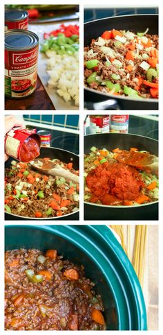 Slow Cooker Spaghetti Sauce #CookwithCampbells