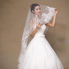 >> Click to Buy << 1.5 m Sequin Lace Wedding Veil Bride Bridal Veil Long 2017 Bridal Veils  LF29 #Affiliate