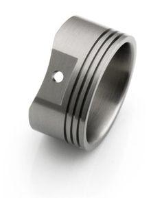 piston mens wedding ring - Google Search