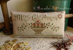 Christmas Fruit Basket ~ Threadwork Primitives.
