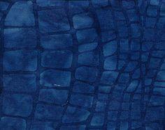 Water Blue Restless Ocean Island Batik Fabric 1 yard