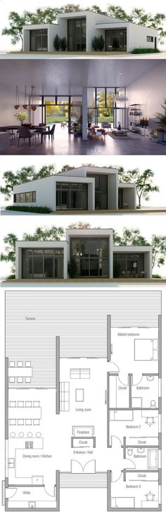 Container Homes Plans - LAY4524 Tropical modern villa with 3 - realiser un plan de maison