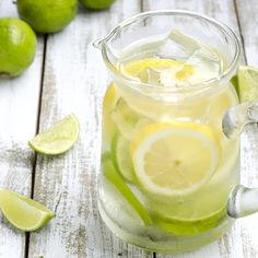Detox lemon and lime water