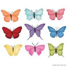 50% OFF SALE Digital Scrapbook Embellishments - Butterfly Clip Art - Digital Graphics - Instant Download. $2.00, via Etsy.