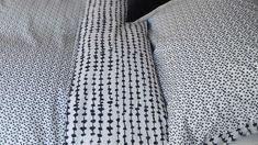 Modern Cotton Blend Duvet Set | Dash Dot Print | Natural Bed Company Double Duvet Set, Monochrome Bedroom, Dash And Dot, Bed Company, King Size Duvet, Black Dots, Duvet Sets, Black Print, Modern
