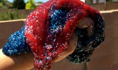 For a star-spangled holiday, try this DIY Fourth of July glittery slime with your kids. It& all natural too! (Except for those sparkles. 4th July Crafts, Fourth Of July Crafts For Kids, 4th Of July Party, Stem For Kids, Diy For Kids, Glittery Slime, Kids Pop, Cool Mom Picks, Slime