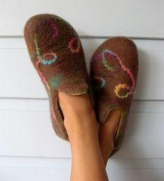 Felt slippers tutorials